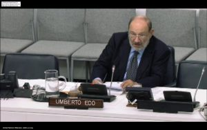 Umberto Eco at the UN