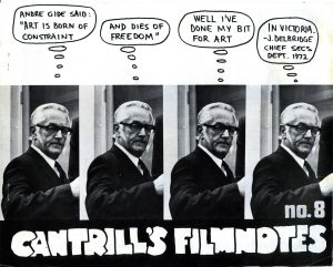 Cover Issue 8 Cantrill's FILMNOTES June 1972